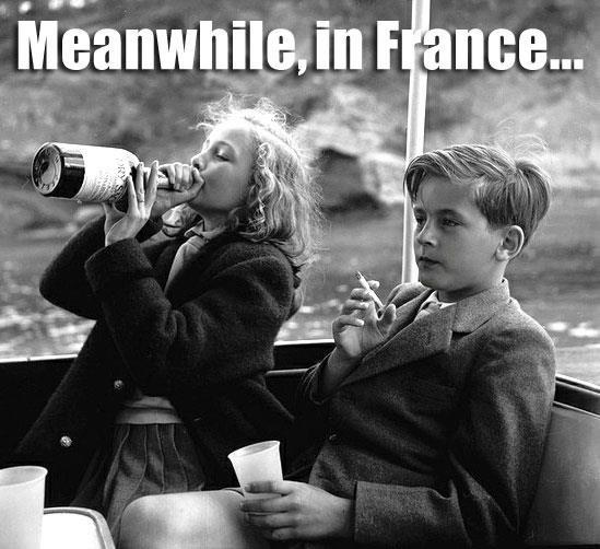 meanwhile-in-france-kids-drinking-smoking-meme